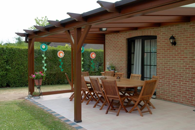 Pergolas maison passion for Exemple de pergola en bois